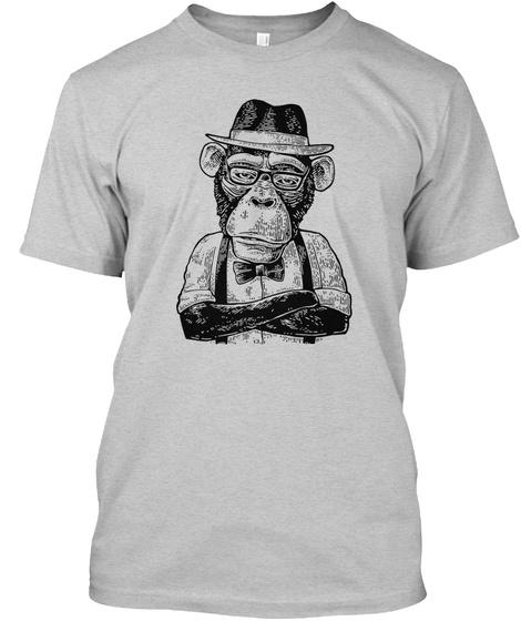 Monkey Vintage Light Steel T-Shirt Front