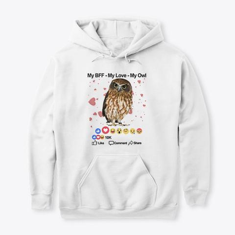 Owl Shirts White T-Shirt Front