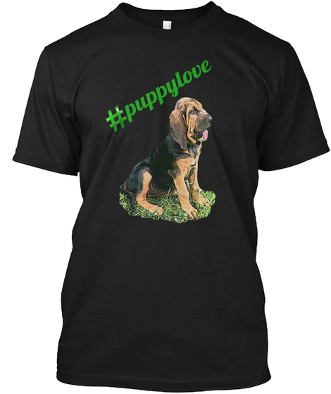 Puppylove Black T-Shirt Front