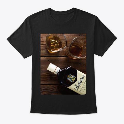 Alcohol Shirts And More... Black T-Shirt Front