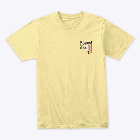Rigged For Sea. Crab Tee.  Banana Cream T-Shirt Front
