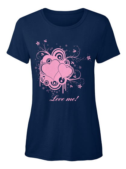 Love Me Navy T-Shirt Front