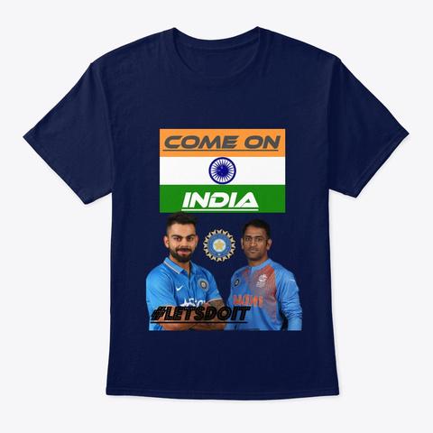 Cheer Team India @Mr.Technology&Arts Navy T-Shirt Front