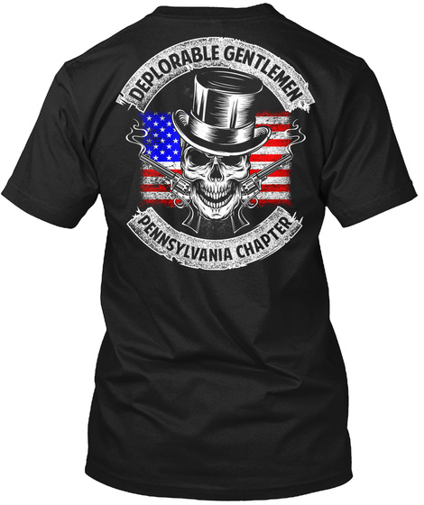 Deplorable Gentleman Pennsylvania Chapter Black T-Shirt Back