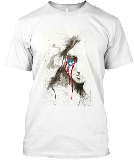 """La Borinqueña Llora"" By Ja Co Tartaruga White T-Shirt Front"