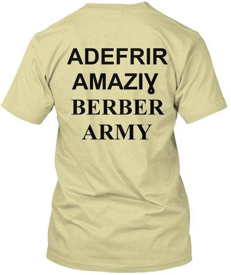 Amazigh Army T Shirt   Akerbas Udefrir Sand T-Shirt Back