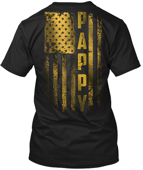 Pappy Gold Black T-Shirt Back