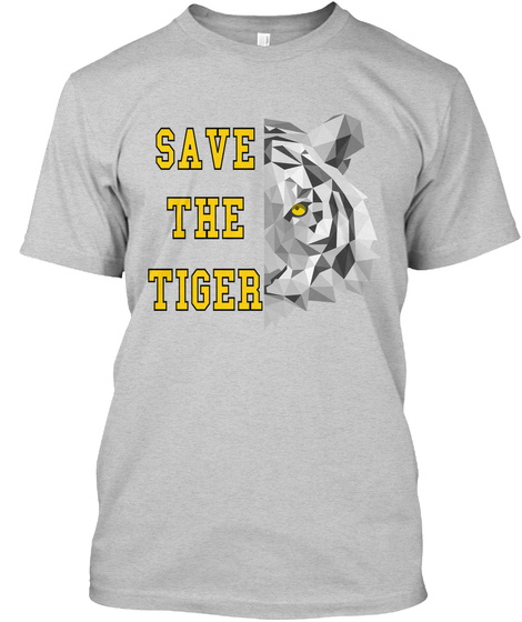 Save The Tiger Light Steel T-Shirt Front