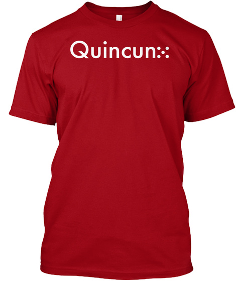 White Quincunx Deep Red T-Shirt Front