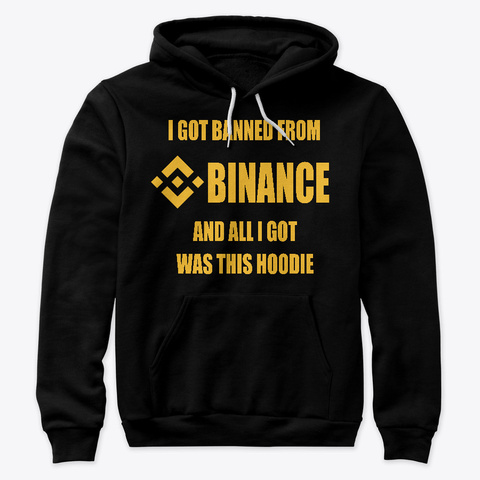 Binance Kicked Me Black T-Shirt Front