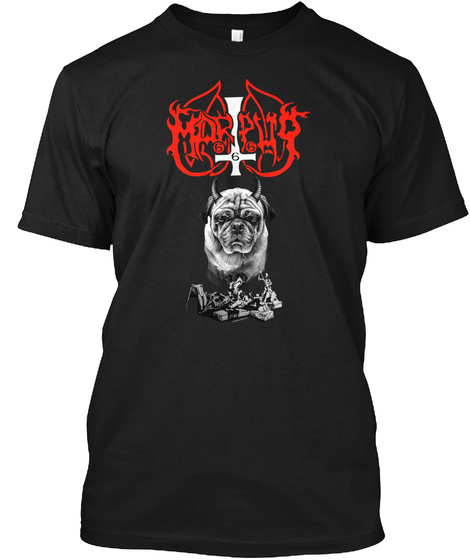 Marpug Black T-Shirt Front