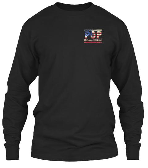 Pop American Original Black T-Shirt Front
