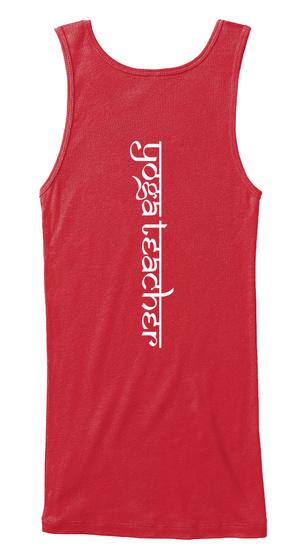 Yoga Teacher Red T-Shirt Back