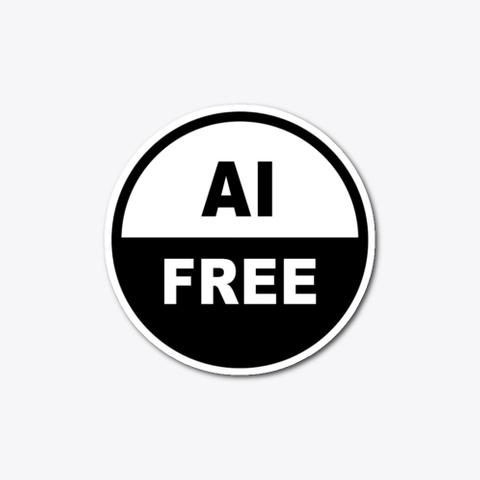 Ai Free Sticker Standard T-Shirt Front