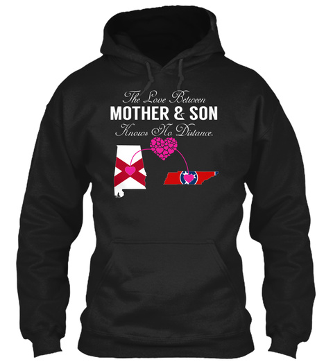 Mother Son   Alabama Tennessee Black T-Shirt Front