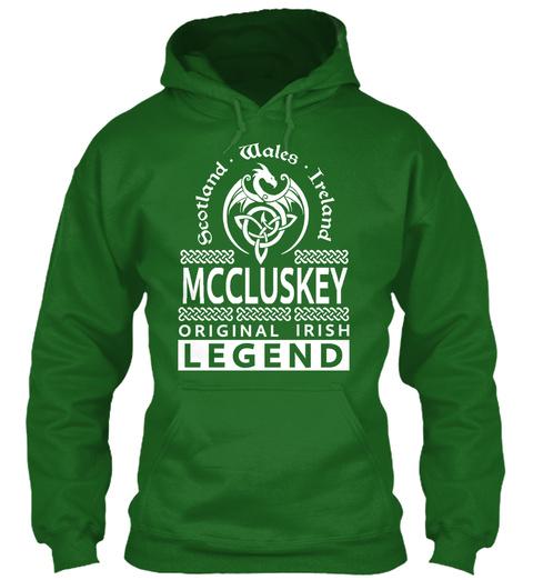 Scotland Wales Ireland Mccluskey Original Irish Legend Irish Green T-Shirt Front
