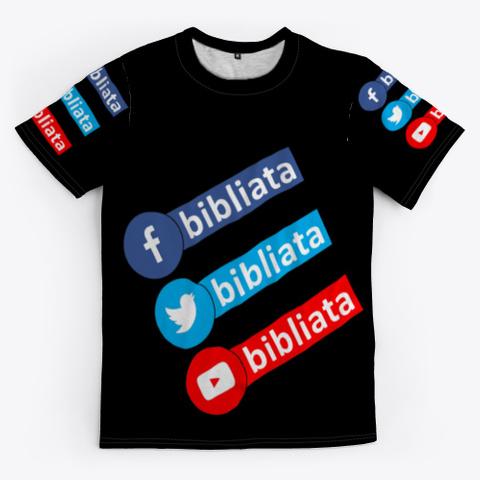 Bibliata Net Black T-Shirt Front