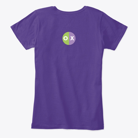 The Presh Mems Shirt Purple Women's T-Shirt Back