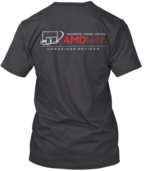 Andrew Marc David Amd Tech Unboxing/Reviews Charcoal Black T-Shirt Back