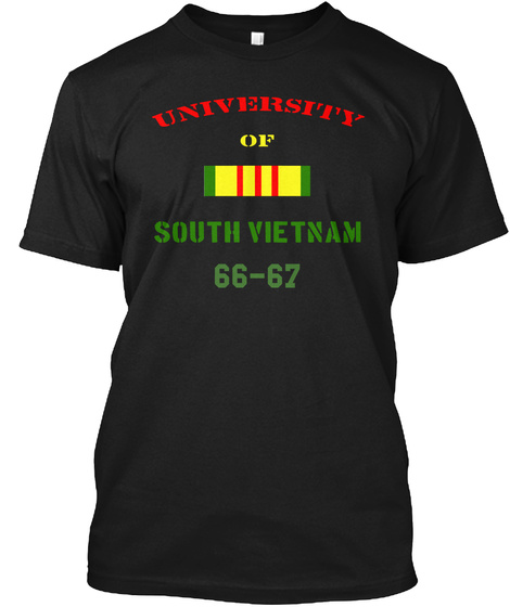 University Of South Vietnam 66 67 Black T-Shirt Front