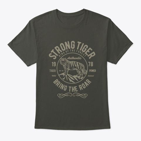 Strong Tiger Smoke Gray T-Shirt Front