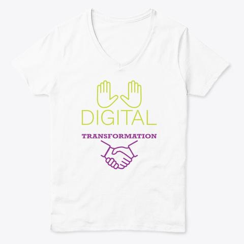 Digital Transformation White  T-Shirt Front