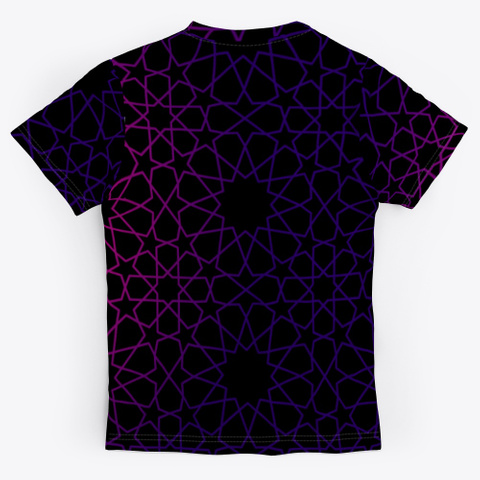 8 12 Tessellation Series V1 Black T-Shirt Back