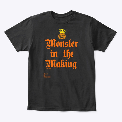 The Queen Of Halloween Collection Black T-Shirt Front
