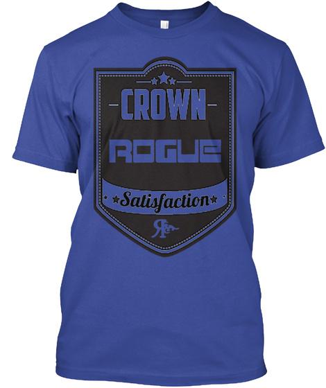 Crown Rogue Satisfaction Deep Royal T-Shirt Front