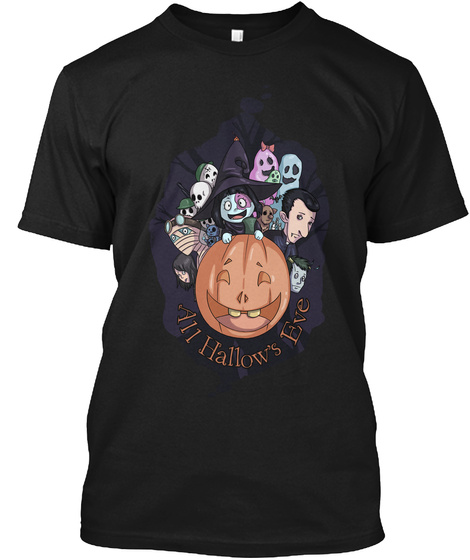All Hallow's Eve Black T-Shirt Front