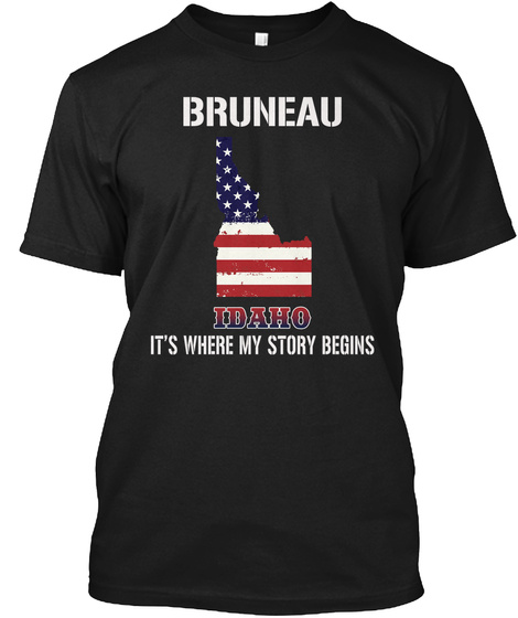 Bruneau Id   Story Begins Black T-Shirt Front