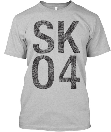 Sk04 Light Heather Grey  T-Shirt Front