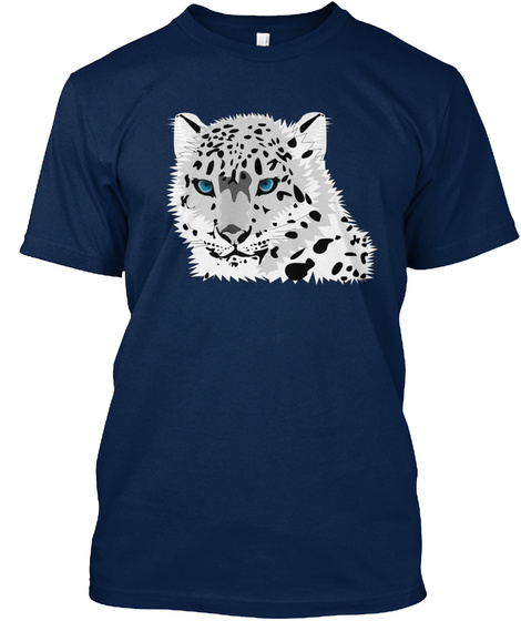 White Tiger Wild Animal Present Gift Ide Navy T-Shirt Front