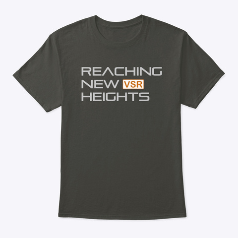 Reaching New Heights Smoke Gray T-Shirt Front