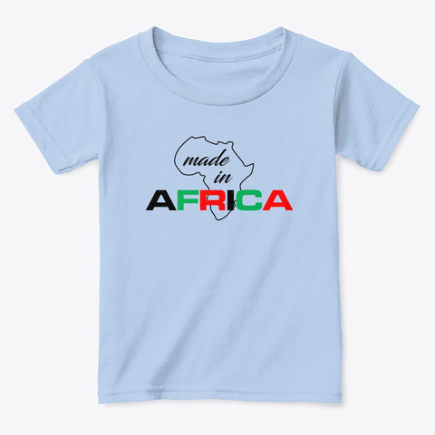 Made In Africa Light Blue T-Shirt Front