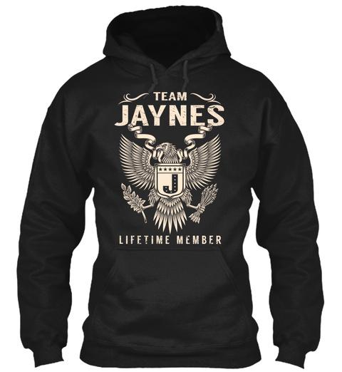 Team Jaynes J Lifetime Member Black T-Shirt Front