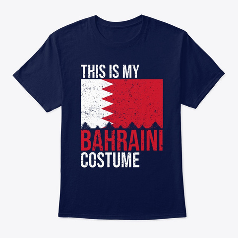 This Is My Bahraini Flag Halloween Shirt Navy T-Shirt Front