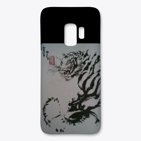 Tiger Samsung Case Black T-Shirt Front