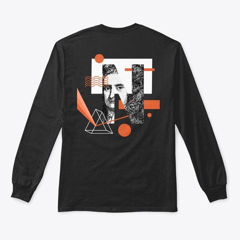 Isaac Newton (Black) Black T-Shirt Back