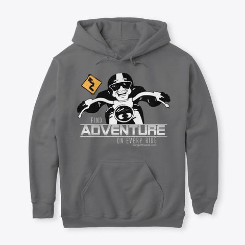 Find Adventure On Every Ride Dark Heather T-Shirt Front