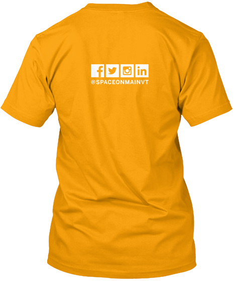 Som Kc Cowork T Shirt Gold T-Shirt Back