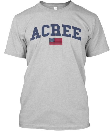 Acree Family Flag Light Steel T-Shirt Front