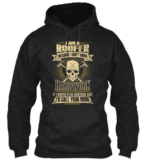 Roofer Roofers Coffee Shop Roofer Roofer Black T-Shirt Front