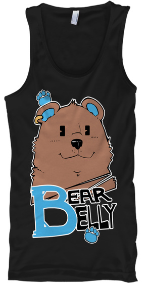 Bear Belly Black T-Shirt Front