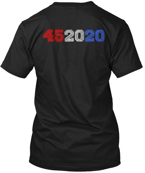 452020 Red White Blue Tshirt Black T-Shirt Back