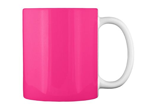 Crayon Halloween Mug Hot Pink T-Shirt Back