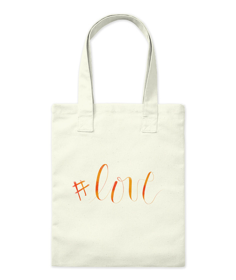 #Love Natural Tote Bag Front