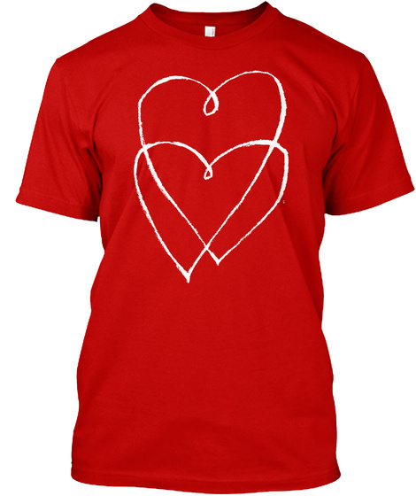 Hearts Intertwinned Classic Red T-Shirt Front