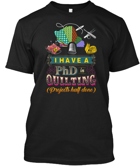 Quilting Lady Black Camiseta Front