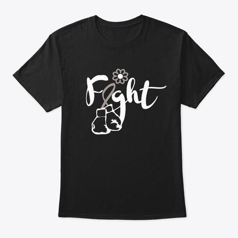 Brain Cancer Fight Faith Awareness Gift Black T-Shirt Front